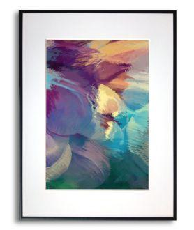 Plakat abstrakcja na ścianę Zachód słońca w górach - Grafiki Obrazy