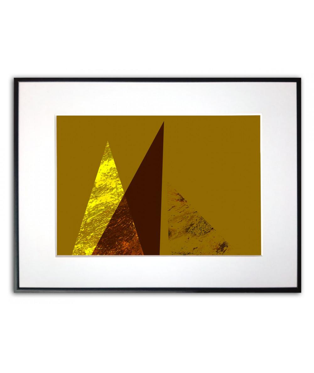 Plakat złoty geometryczny Złote góry