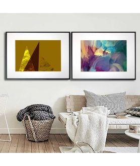 Dwa plakaty z galerii Grafiki Obrazy