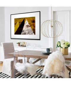 Plakat wzory geometryczne W złotych górach - Grafiki Obrazy