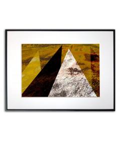 Plakat wzory geometryczne W złotych górach