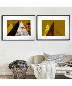 Plakaty geometryczne abstrakcje - Grafiki Obrazy