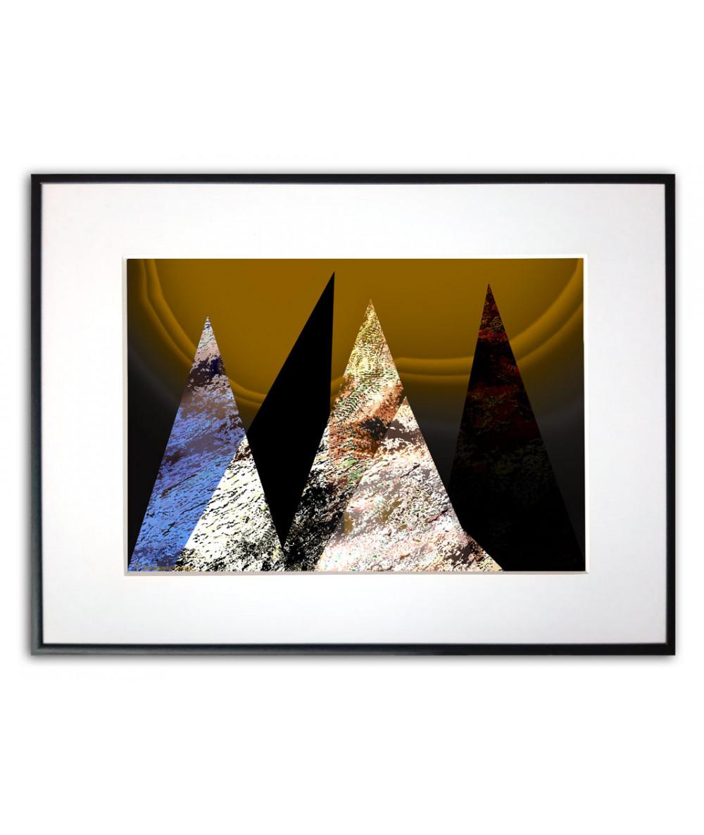 Plakat geometryczny na ścianę Świt w górach
