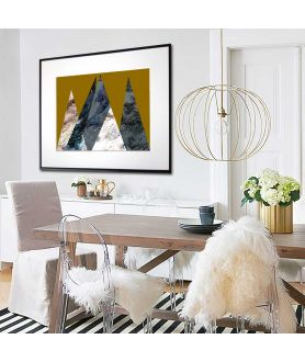 Plakat z górami na ścianę - Grafiki Obrazy