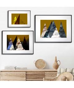 Plakaty góry tryptyk - Grafiki Obrazy