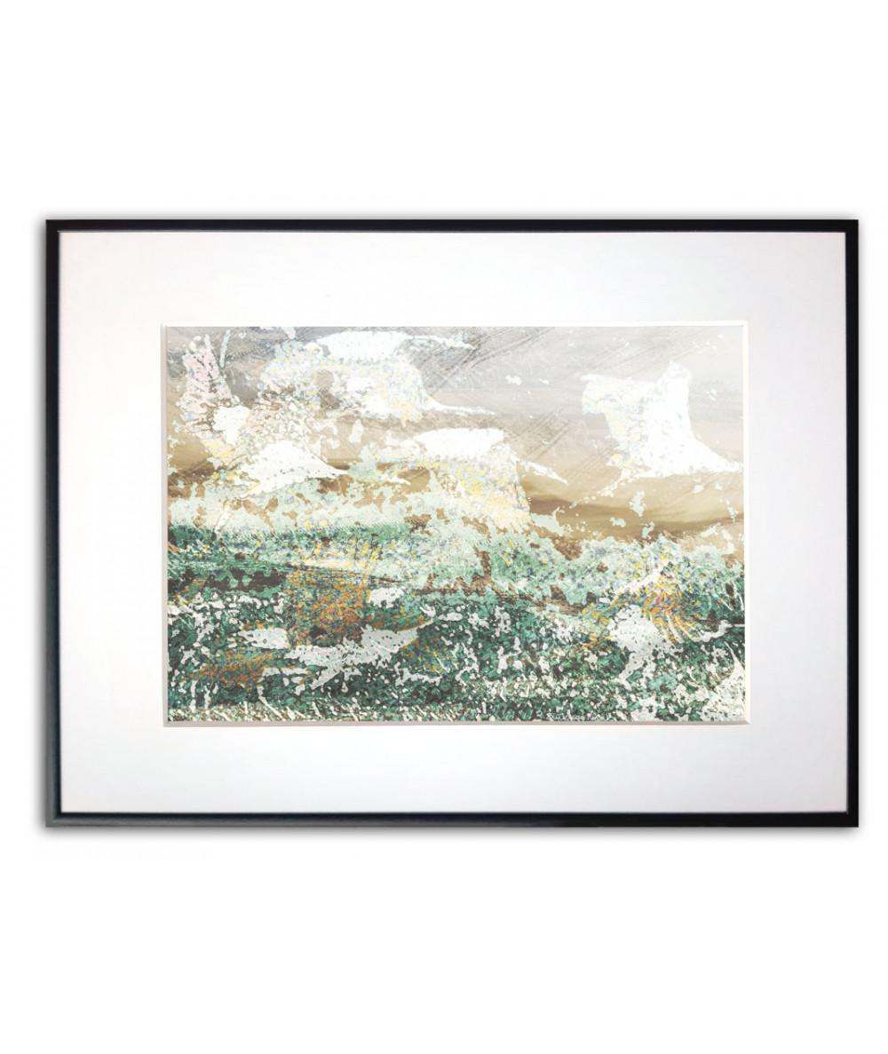 Plakat z ptakami na ścianę Złote żurawie