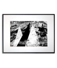 Plakat nowoczesny czarno biały Mgła w górach