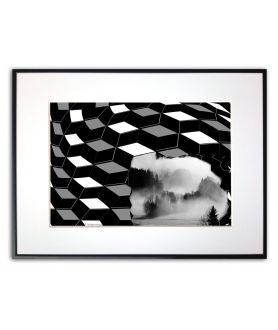 Plakat geometryczny góry 3d na ścianę Góry