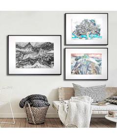 Plakaty grafiki na ścianę w zestawach - Grafiki Obrazy