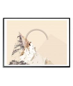 Plakat góry tęcza Simplicity no. 58
