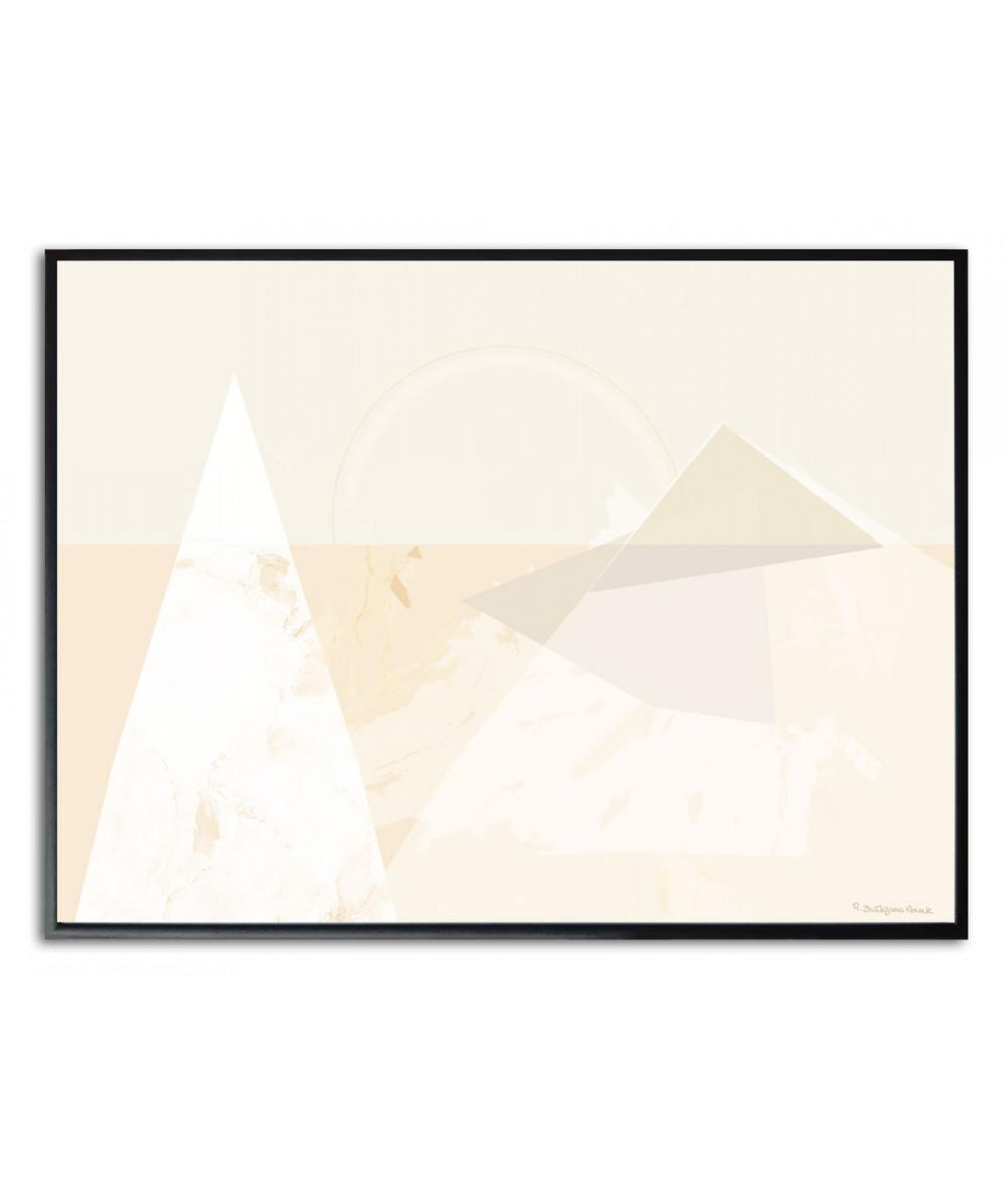 Plakat geometryczny trójkaty góry Simplicity no. 61