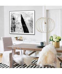 Plakat góry czarno białe - Grafiki Obrazy