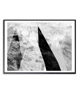 Plakat góry czarno białe Śpiące góry