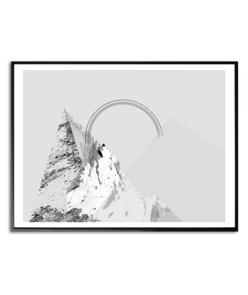 Plakat szary góry tęcza Simplicity no. 58 a