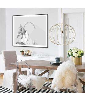 Plakat szary góry tęcza z kolekcji Simplicity - Grafiki Obrazy