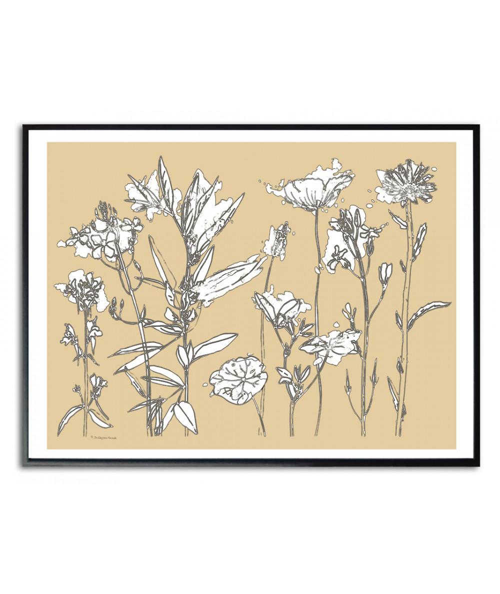 Plakat wiosenne kwiaty na ścianę Wiosna
