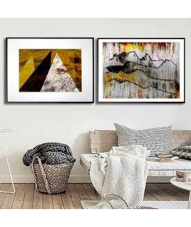 Dwa plakaty na ścianę z górami - Grafiki Obrazy