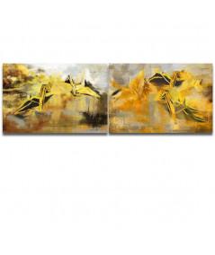 Złote Obrazy - Obrazy złote na ścianę Lot przez życie