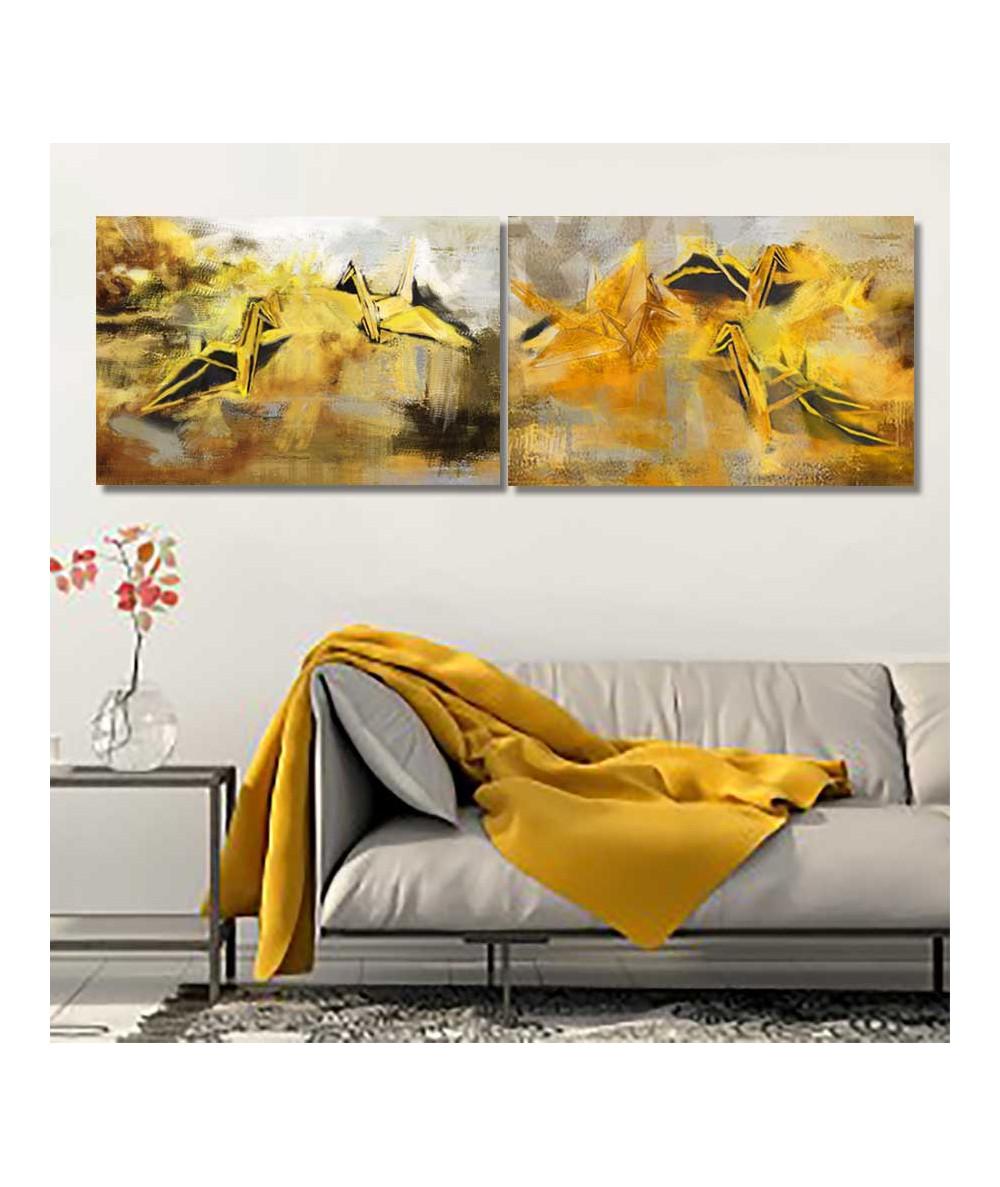 Obrazy złote na ścianę Lot przez życie