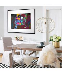 Plakat geometryczny na ścianę Miłosny pocałunek - Grafiki Obrazy