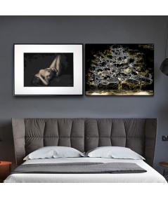 Plakaty nad łóżko zestaw - Grafiki Obrazy