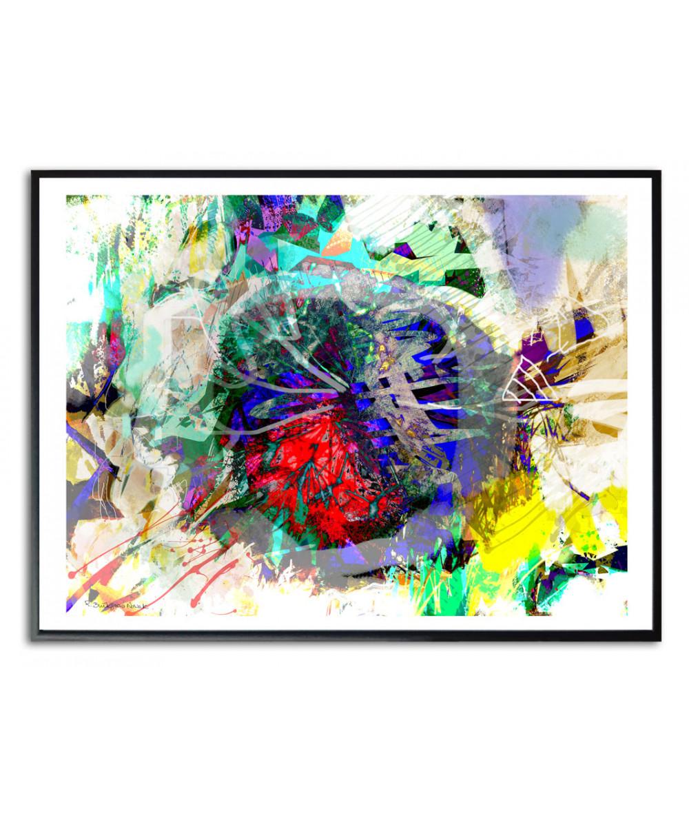 Plakat nowoczesny abstrakcja Nowoczesne dmuchawce