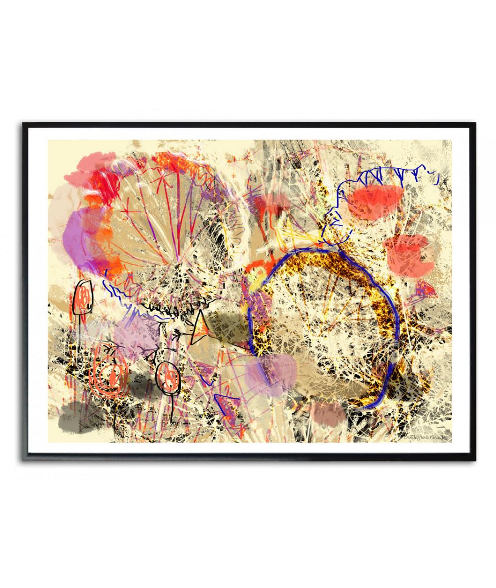 Plakat abstrakcja na ścianę Dmuchawce abstrakcja