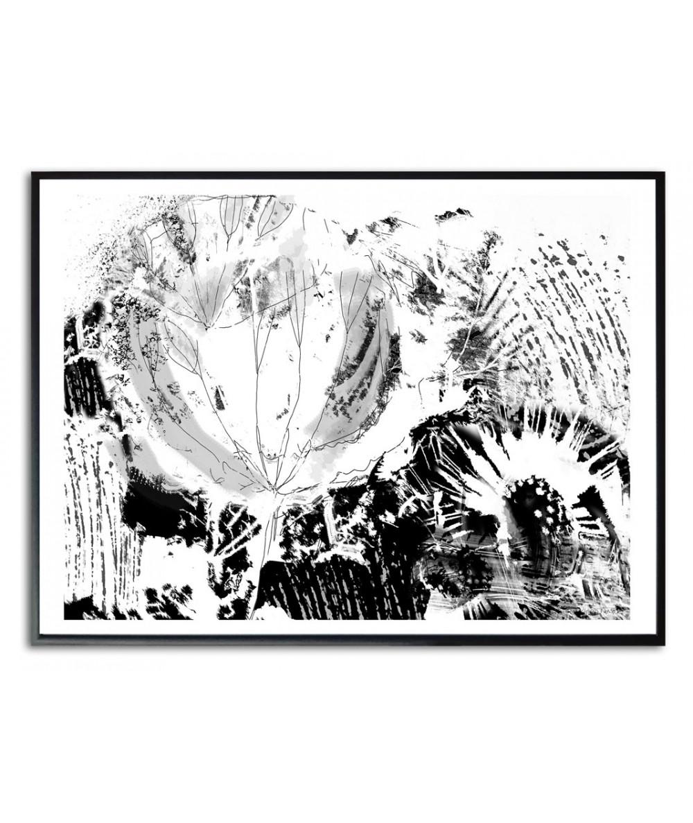 Plakat czarno biały na ścianę Srebrne dmuchawce