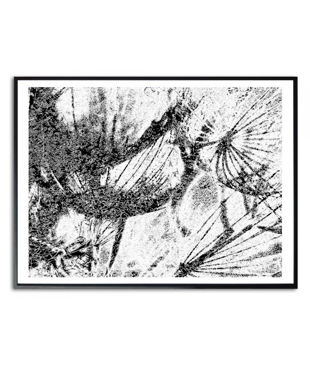 Plakat ścienny czarno biały Grafika z dmuchawcami
