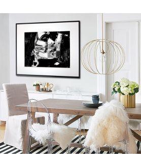 Plakat czarno biały z pocałunkiem Pocałuj mnie - Grafiki Obrazy