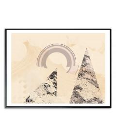 Fajny plakat abstrakcyjny na ścianę Pieszo do słońca