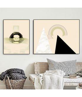 Plakaty beżowe abatrakcje - Grafiki Obrazy