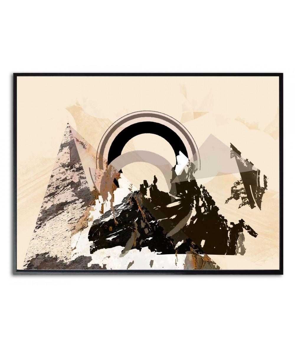 Plakat góry beżowy Przebudzenie w górach