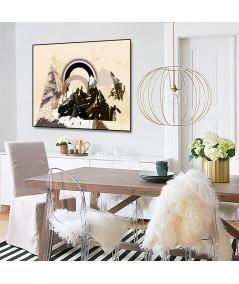 Plakat góry beżowy Przebudzenie w górach - Grafiki Obrazy