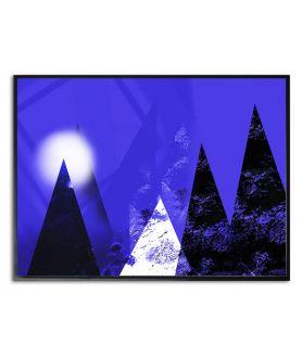 Plakat góry granatowy Góry księżycowe