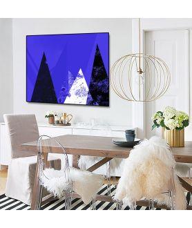 Plakat minimalistyczny góry Niebieski krajobraz - Grafiki Obrazy