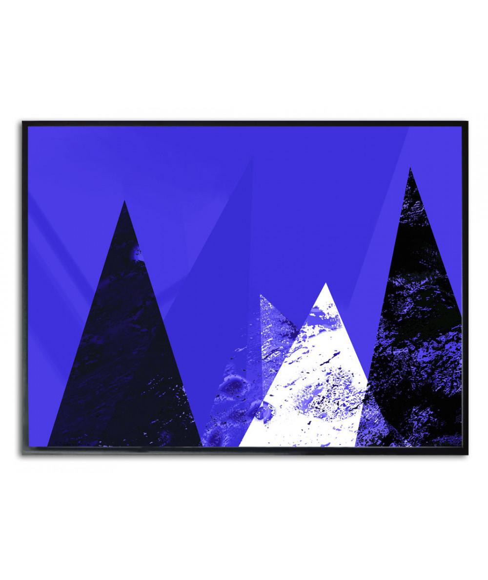 Plakat minimalistyczny góry Niebieski krajobraz