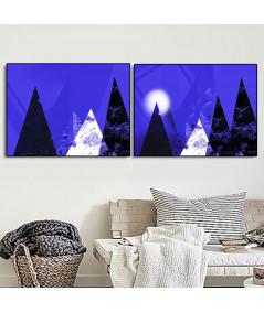 Plakaty minimalistyczne góry zestaw - Grafiki Obrazy