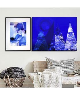 Granatowe plakaty w Grafiki Obrazy