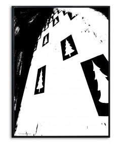 Plakat góry grafika czarno biała Simplicity no. 62