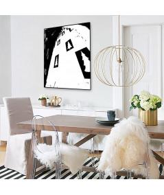 Plakat góry grafika czarno biała Simplicity no. 62 - Grafiki Obrazy