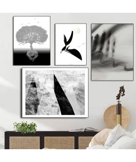 Plakaty czarno białe do druku - Grafiki Obrazy