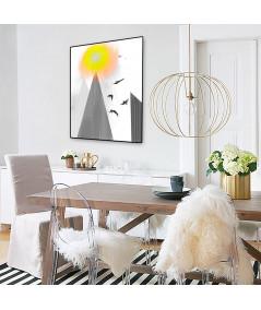 Plakat artystyczny góry na ścianę Wysoko w górach - Grafiki Obrazy