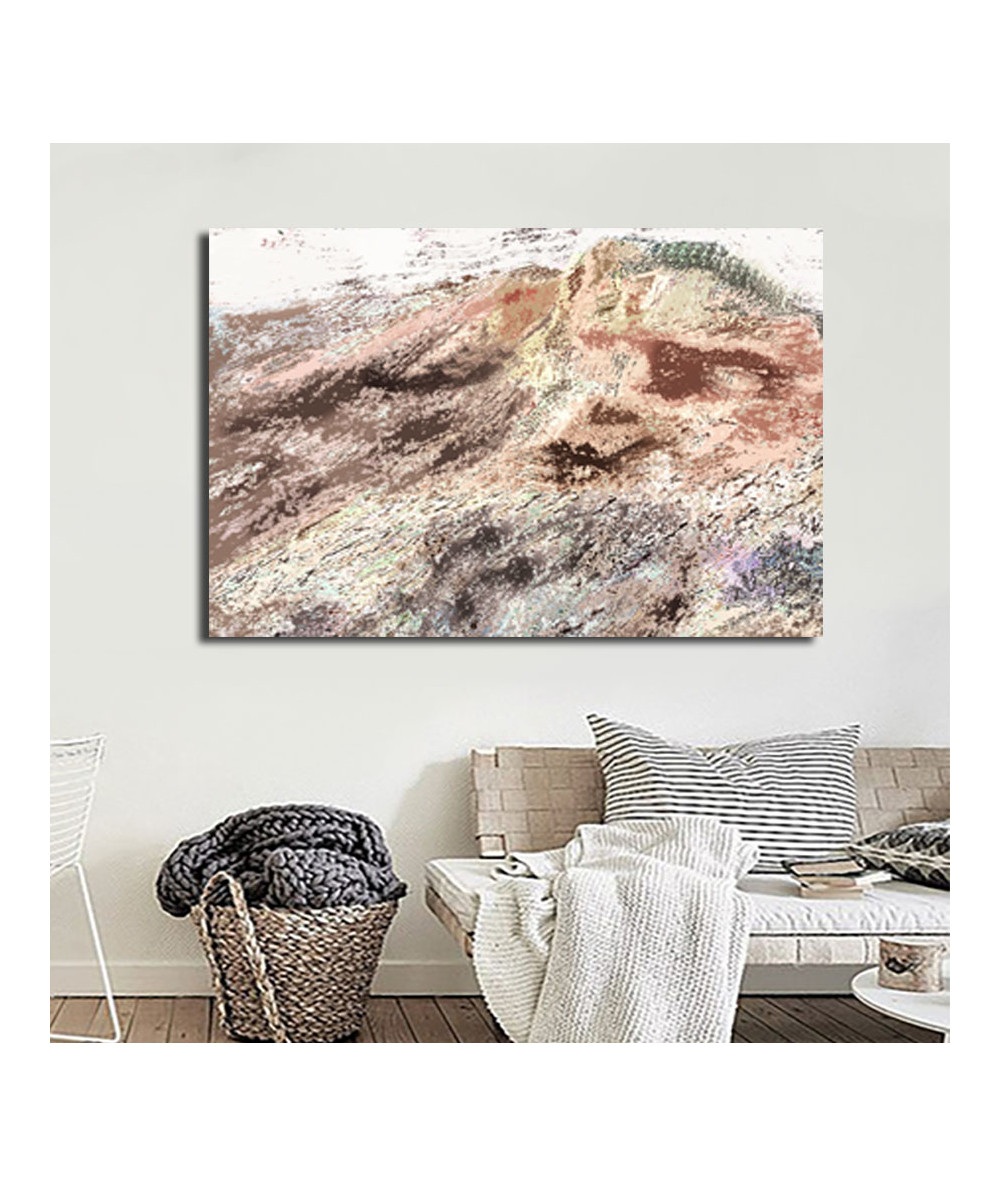 Obrazy pejzaże - Obraz pejzaż Góra i słońce (1-częściowy) szeroki