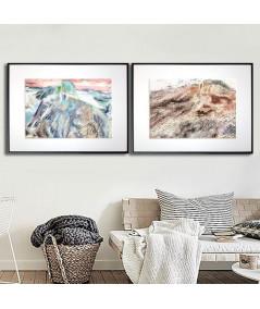 Plakaty góry, zestaw dwóch plakatów na ścianę - Grafiki Obrazy