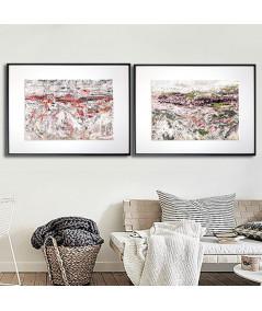 2 plakaty góry na ścianę do salonu - Grafiki Obrazy