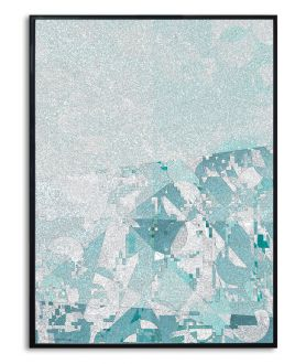 Plakat abstrakcja na ścianę Chłód gór