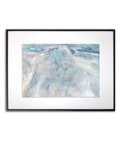 Plakat z niebieską górą Góra w świetle