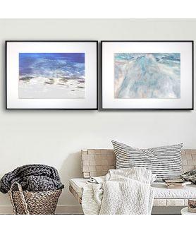 Zestaw plakatów w Grafiki Obrazy: góry i morze