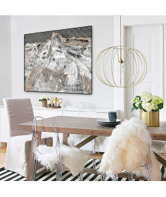 Grafika góry w ramie Góry miłości w salonie - Grafiki Obrazy
